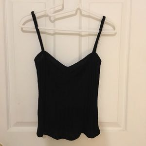 Reformation knit tank top black small new